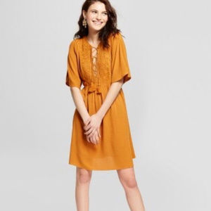 NWT Xhilaration Gold, Mustard Dress